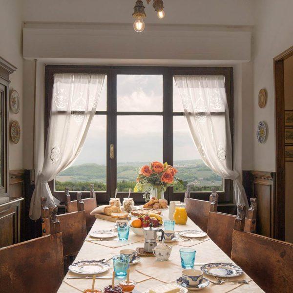 Sala colazione Residenza Fabroni Montepulciano centro storico