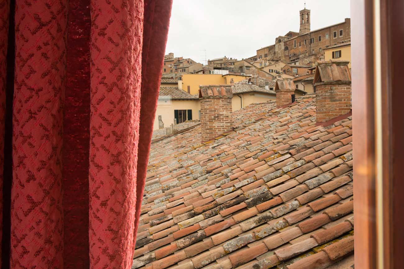 panorama suite camera rossa centro storico Montepulciano Residenza Fabroni