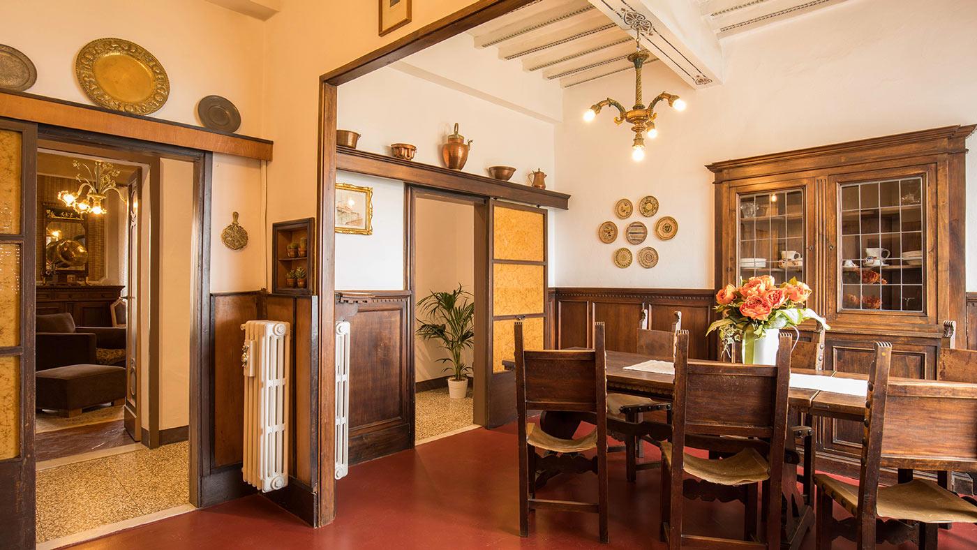 sala colazione Residenza Fabroni Montepulciano